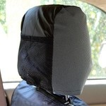 Auto headrest protect OSSO grey-black color